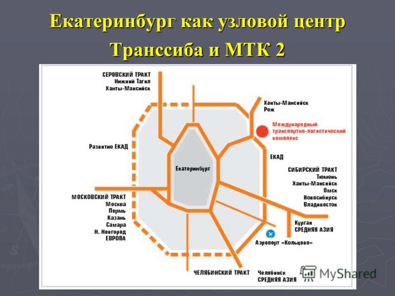 Екатеринбург как узловой центр Транссиба и МТК 2