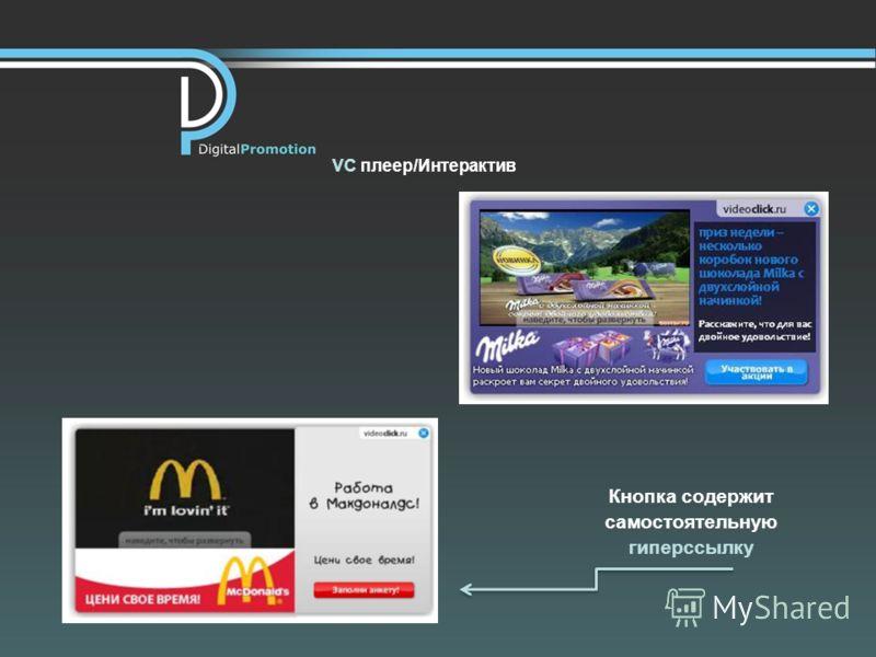 VC плеер/Интерактив Кнопка содержит самостоятельную гиперссылку