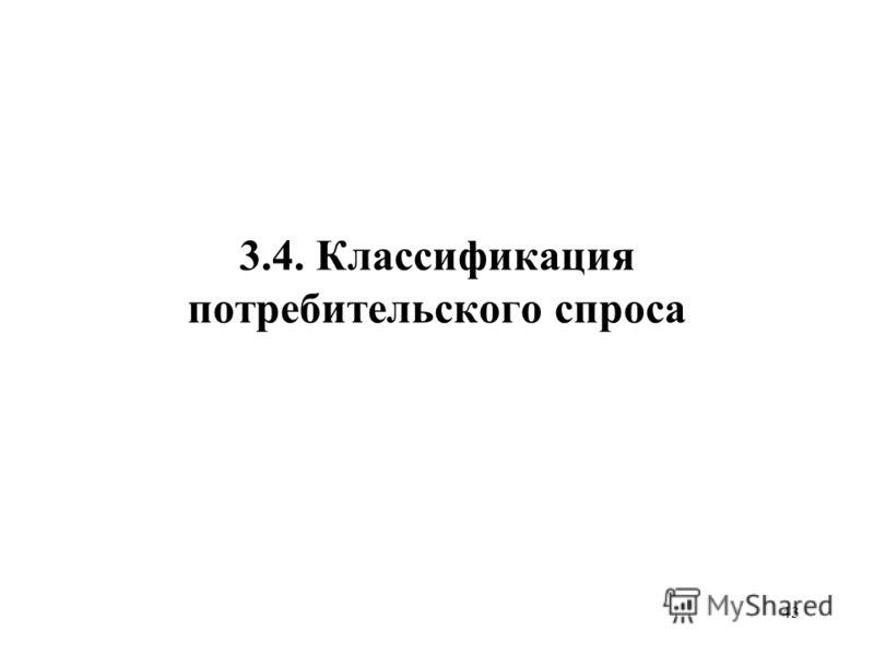 43 3.4. Классификация потребительского спроса