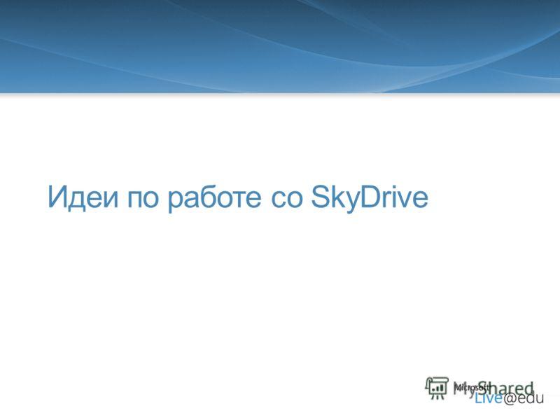 Идеи по работе со SkyDrive