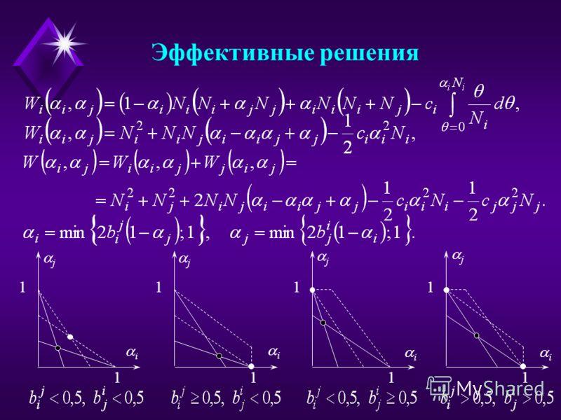 Эффективные решения 1 1 j i 1 1 j i 1 1 j i 1 1 j i