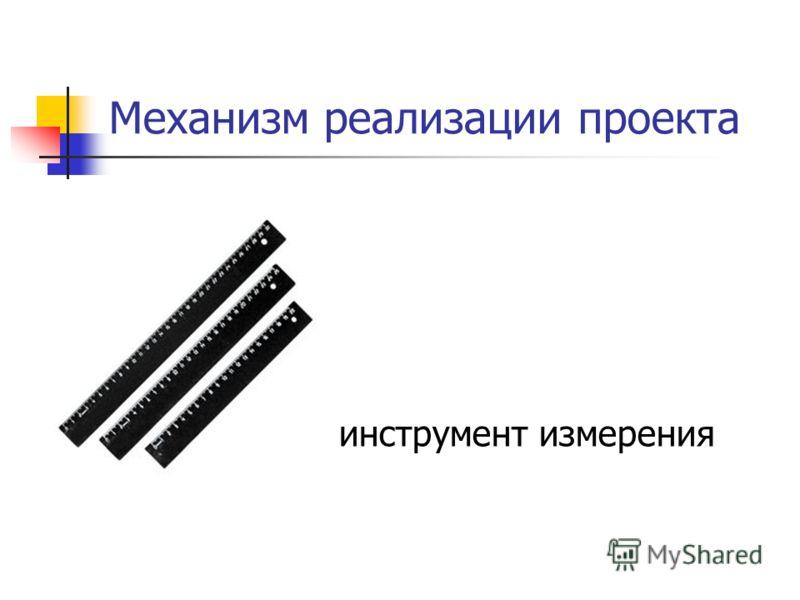 Механизм реализации проекта инструмент измерения