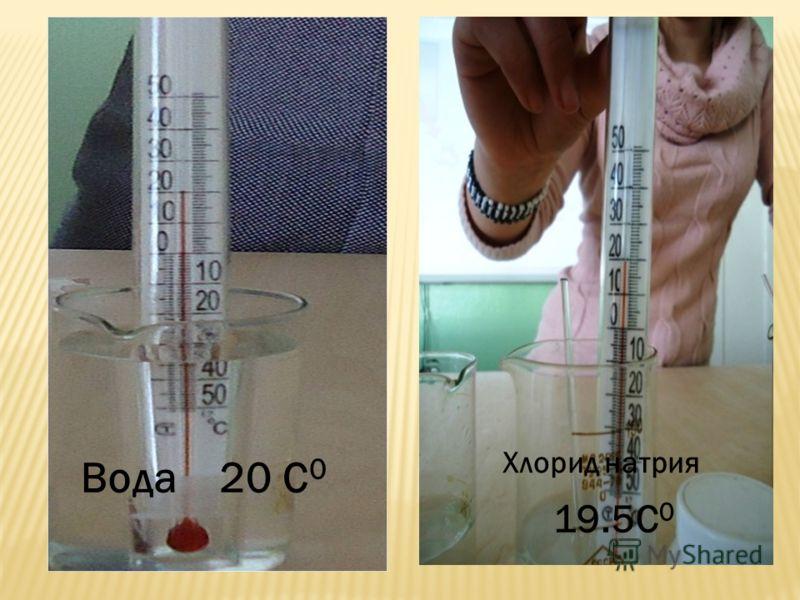 Хлорид натрия Вода20 С 0 19.5С 0