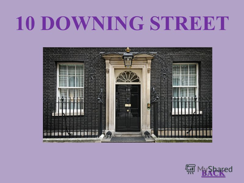 10 DOWNING STREET BACK