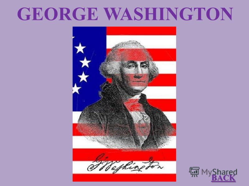 GEORGE WASHINGTON BACK