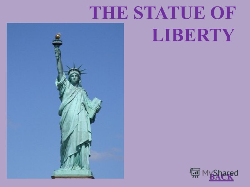 THE STATUE OF LIBERTY BACK