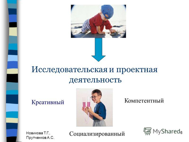 Новикова Т.Г., Прутченков А.С. 6 Исследовательская и проектная деятельность Креативный Компетентный Социализированный