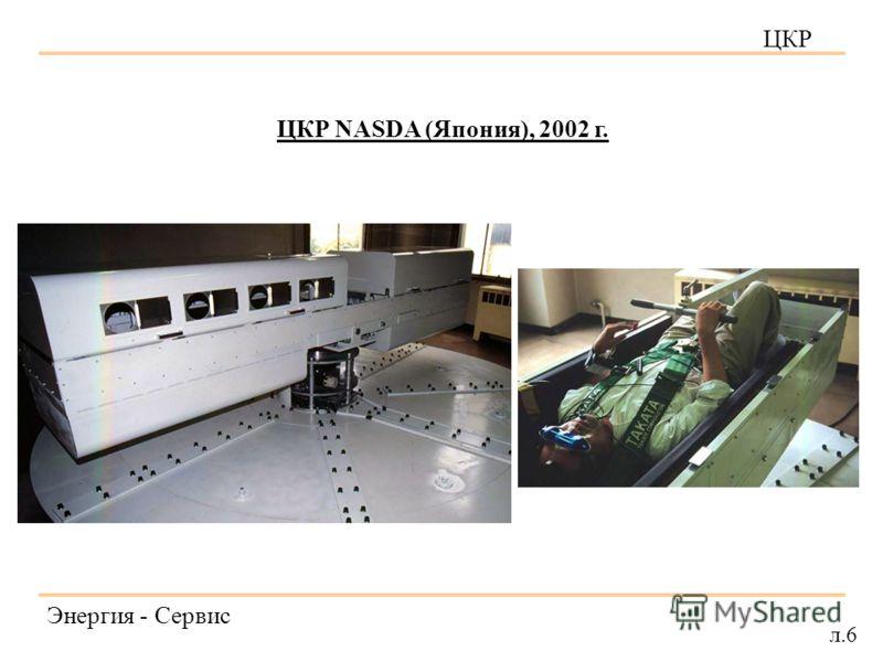 ЦКР Энергия - Сервис л.6 ЦКР NASDA (Япония), 2002 г.