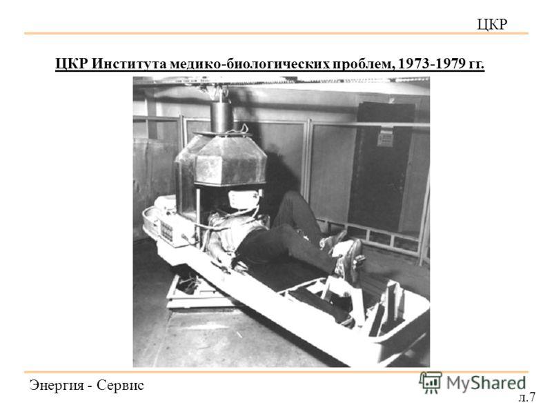 ЦКР Энергия - Сервис л.7 ЦКР Института медико-биологических проблем, 1973-1979 гг.