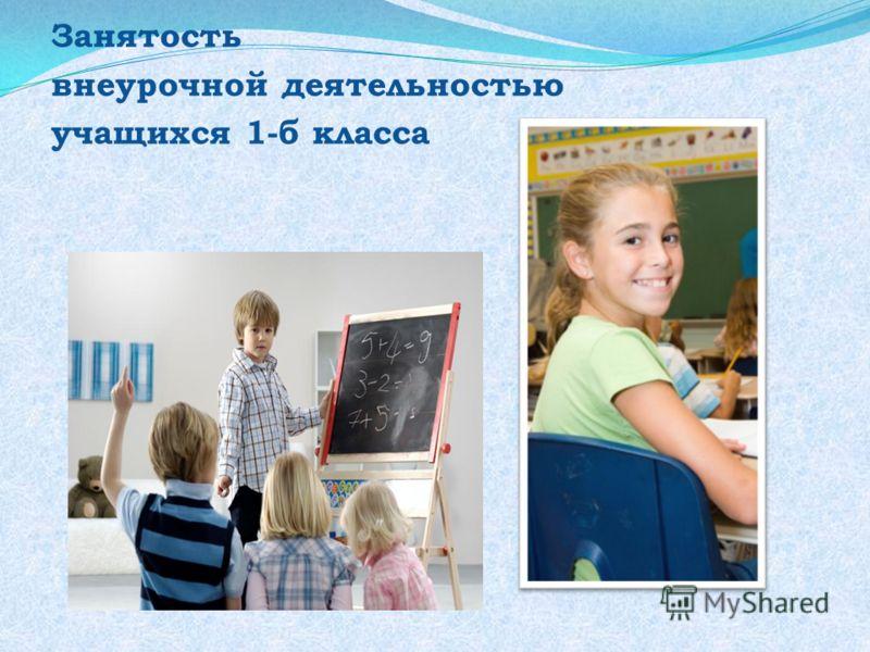 Занятость внеурочной деятельностью учащихся 1-б класса