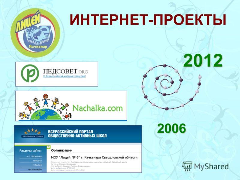 ИНТЕРНЕТ-ПРОЕКТЫ 2006 2012