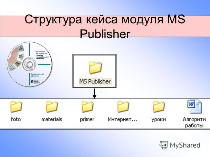 Структура кейса модуля MS Publisher