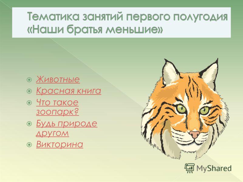 Животные Красная книга Что такое зоопарк? Что такое зоопарк? Будь природе другом Будь природе другом Викторина