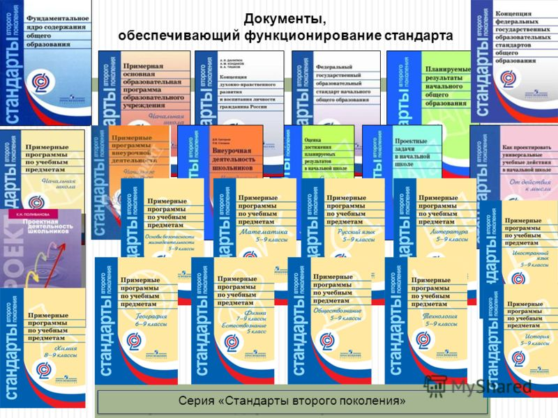 Серия «Стандарты второго поколения» Документы, обеспечивающий функционирование стандарта