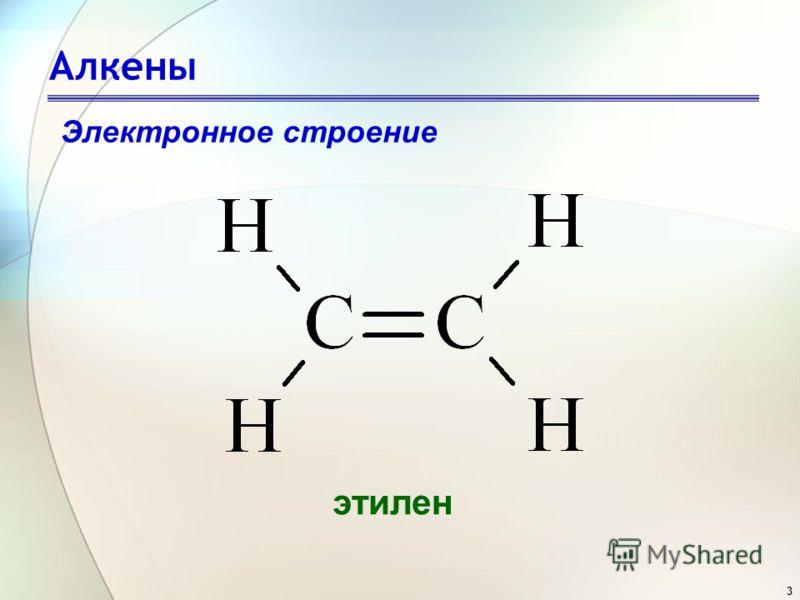 3 Алкены этилен Электронное строение