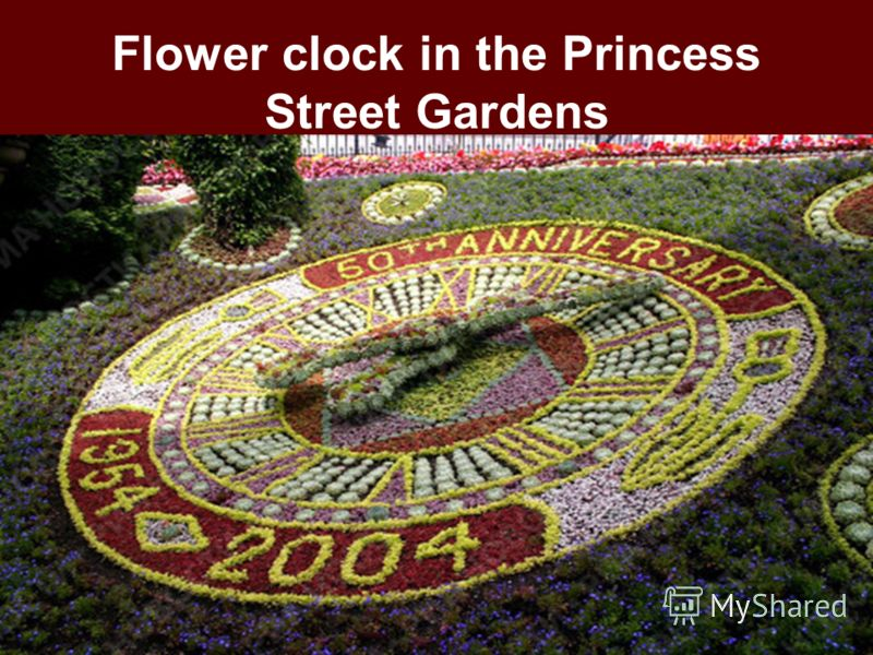 Flower clock in the Princess Street Gardens