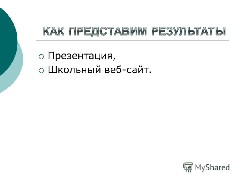 Презентация, Школьный веб-сайт.