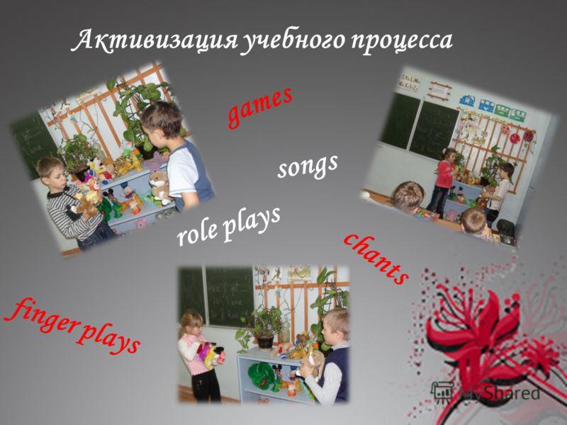 chants games finger plays role plays Активизация учебного процесса songs