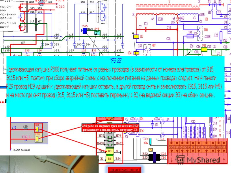 Питание Ц.У. и зарядка АБ от ТРПШ 380 в 380 в в БРН + 50 в Лампа ЗБ Зарядка АБ ~50 в Для стабилизации U в обмотке Н2 –К2 Цепи управления в оглавление Дроссель ДС3 Сглаживает пульсирующий ток зарядки А.Б. Дроссель ДС1 Сглаживает пульсирующий ток цепей