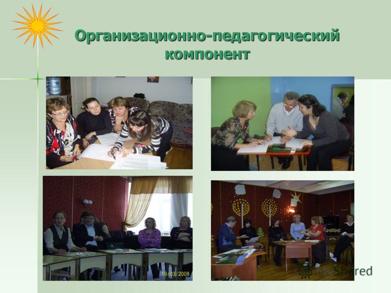 Организационно-педагогический компонент