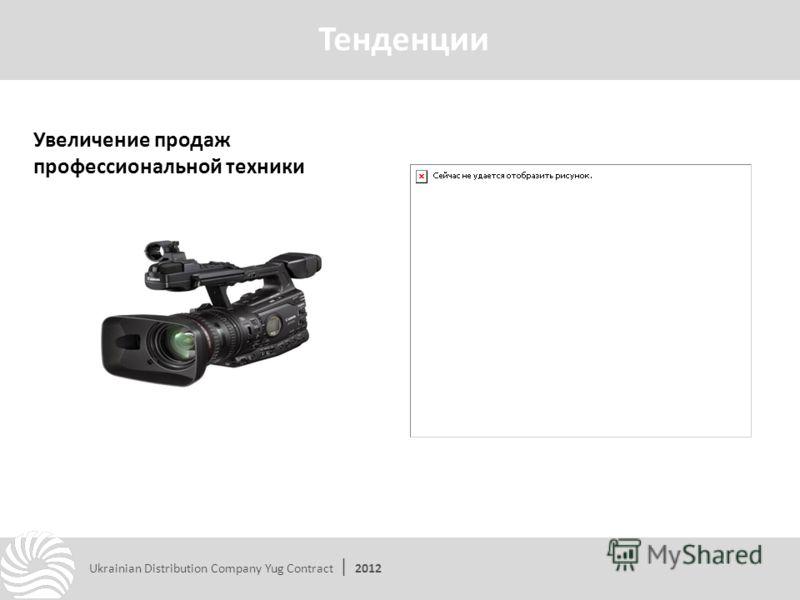Увеличение продаж профессиональной техники Тенденции Ukrainian Distribution Company Yug Contract | 2012
