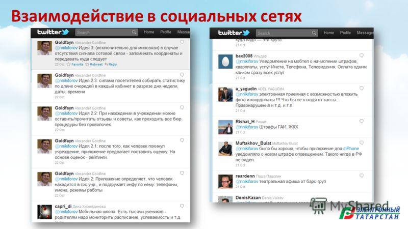 Взаимодействие в социальных сетях