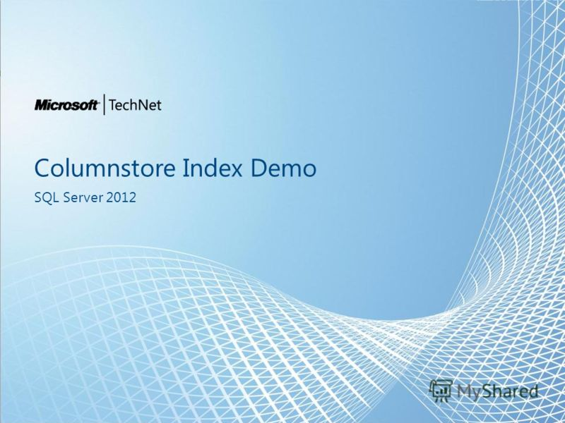 Columnstore Index Demo SQL Server 2012
