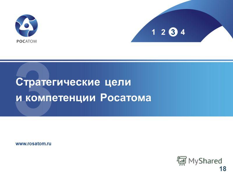 www.rosatom.ru 1234 Стратегические цели и компетенции Росатома 18