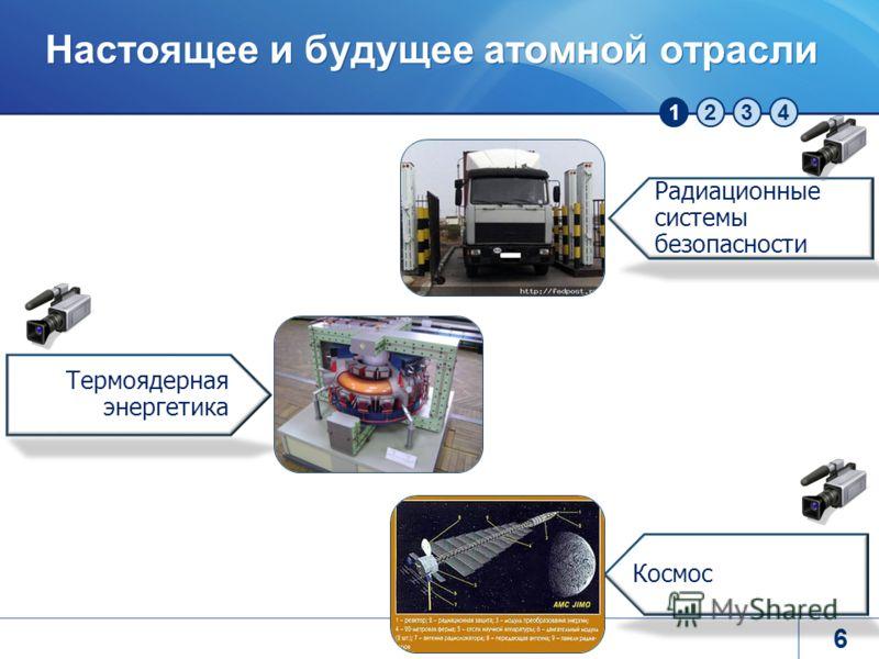 1234 Настоящее и будущее атомной отрасли 6 Термоядерная энергетика Космос Радиационные системы безопасности