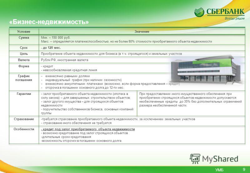 УМБ «Бизнес-недвижимость» 9