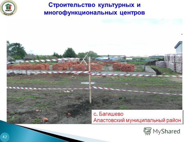 Строительство культурных и многофункциональных центров 42 с. Багишево Апастовский муниципальный район