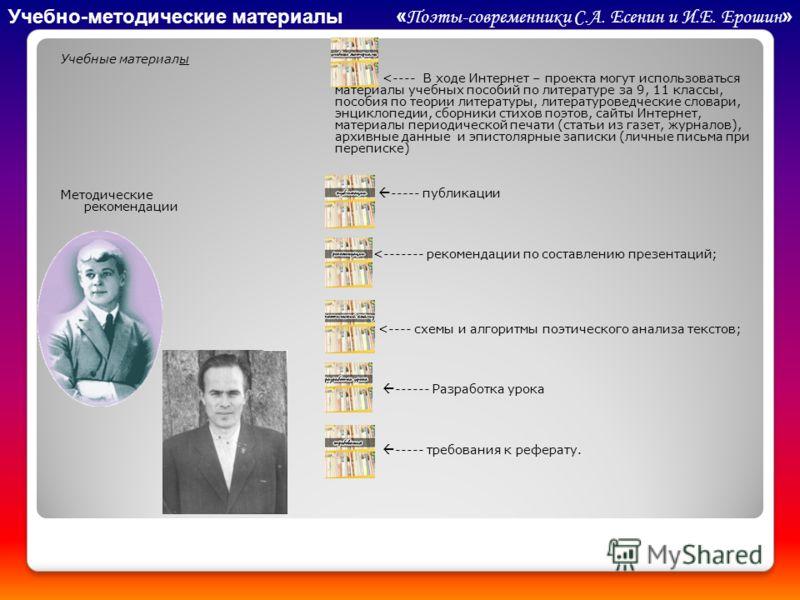 Учебные материалы Методические рекомендации \