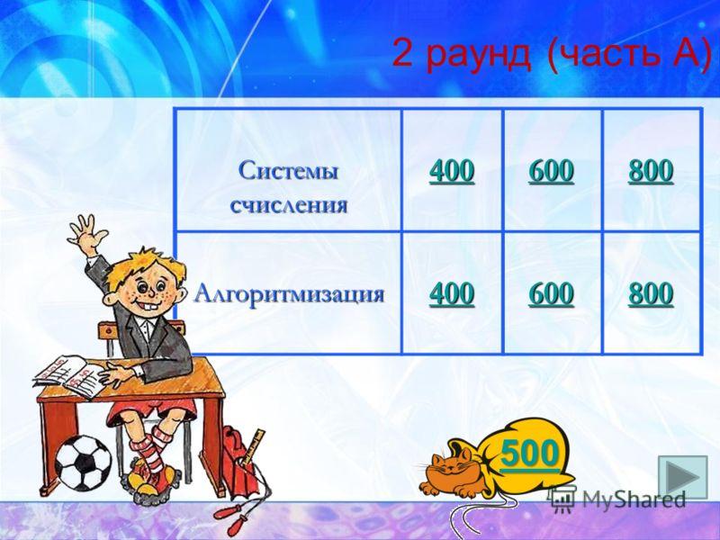 Информация 100 200 300 400 500 Логика 100 200 300 400 500 Пользовательский курс 100 200 300 400 500 1 раунд (часть А)