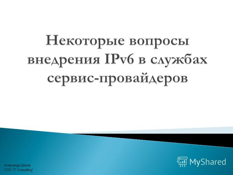 Александр Шиков ООО IT Consulting