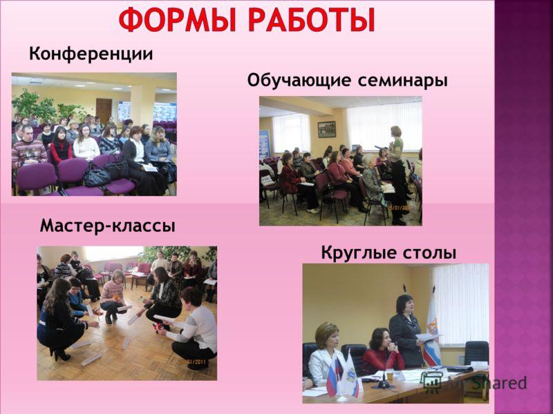 Конференции Обучающие семинары Мастер-классы Круглые столы