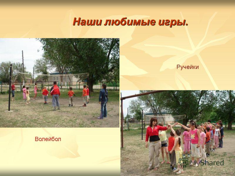 Наши любимые игры. Волейбол Ручейки
