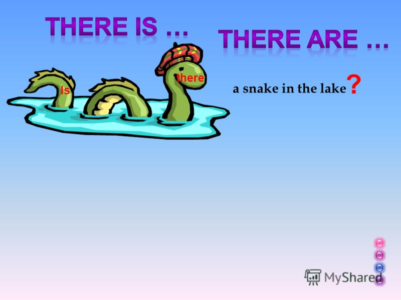 a snake in the lake ? Is there
