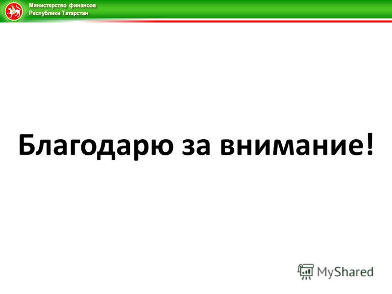 Министерство финансов Республики Татарстан Благодарю за внимание!