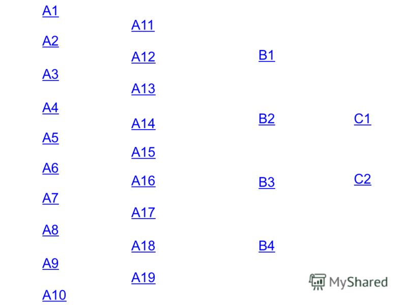 А1 А2 А3 А4 А5 А6 А7 А8 А9 А10 А11 А12 А13 А14 А15 А16 А17 А18 А19 В1 В2 В3 В4 С1 С2