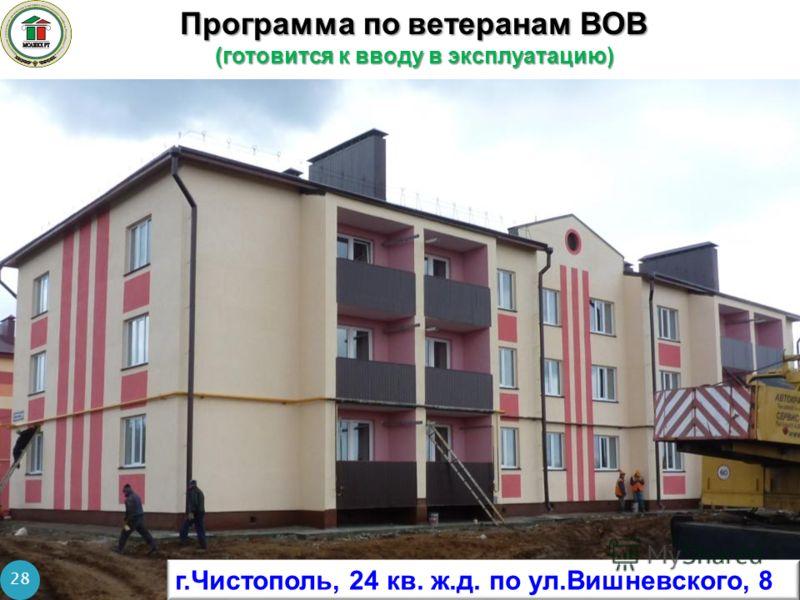 Программа по ветеранам ВОВ (готовится к вводу в эксплуатацию) 28 г.Чистополь, 24 кв. ж.д. по ул.Вишневского, 8