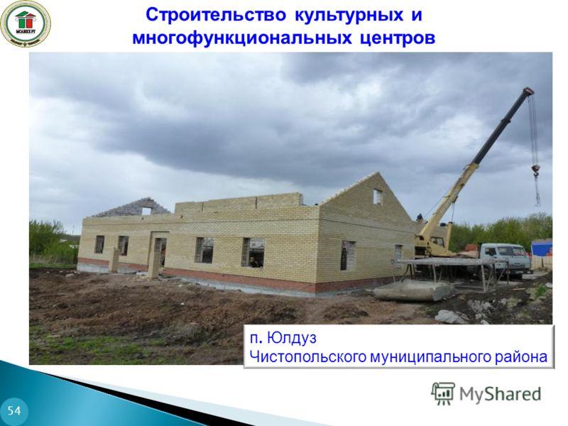 54 Строительство культурных и многофункциональных центров п. Юлдуз Чистопольского муниципального района