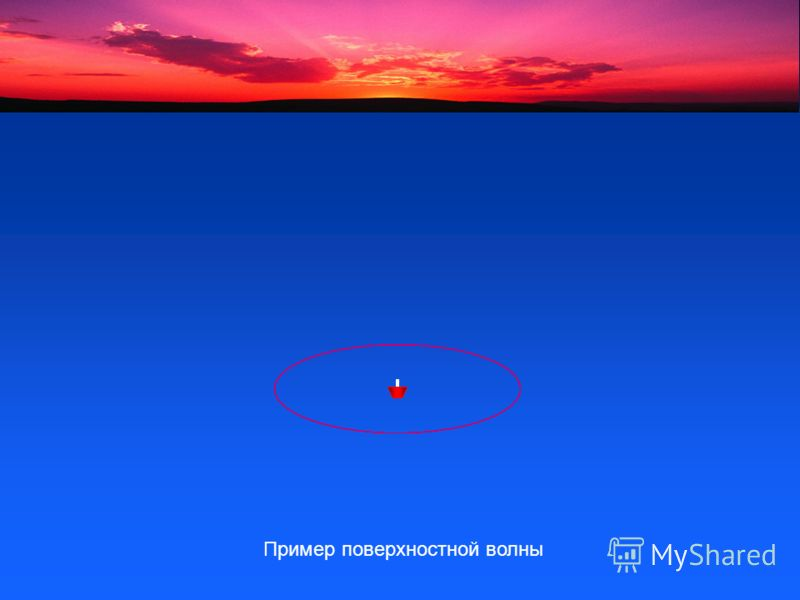 Пример поверхностной волны
