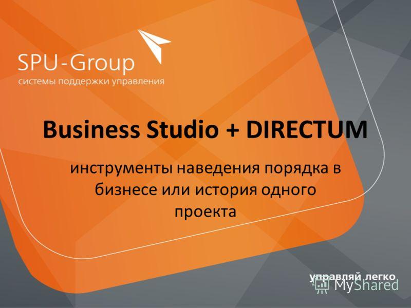 Business Studio + DIRECTUM инструменты наведения порядка в бизнесе или история одного проекта