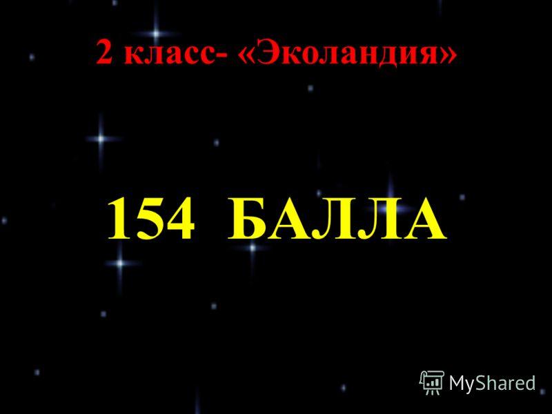 2 класс- «Эколандия» 154 БАЛЛА
