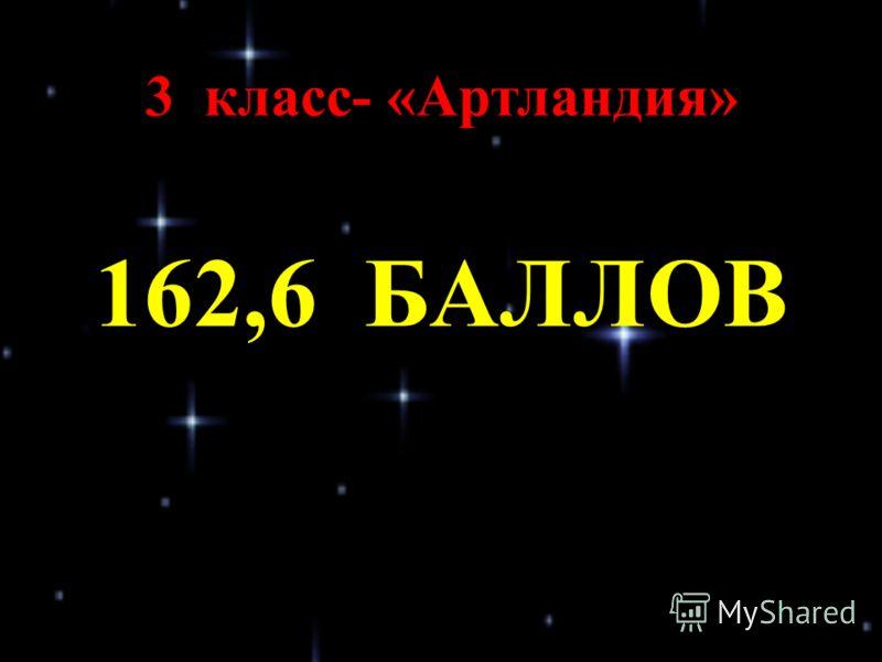 3 класс- «Артландия» 162,6 БАЛЛОВ