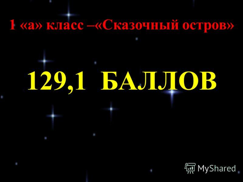 1 «а» класс –«Сказочный остров» 129,1 БАЛЛОВ