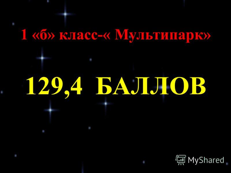 1 «б» класс-« Мультипарк» 129,4 БАЛЛОВ
