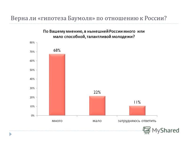 Верна ли « гипотеза Баумоля » по отношению к России ?