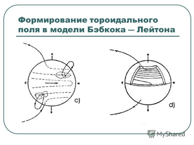 Формирование тороидального поля в модели Бэбкока Лейтона