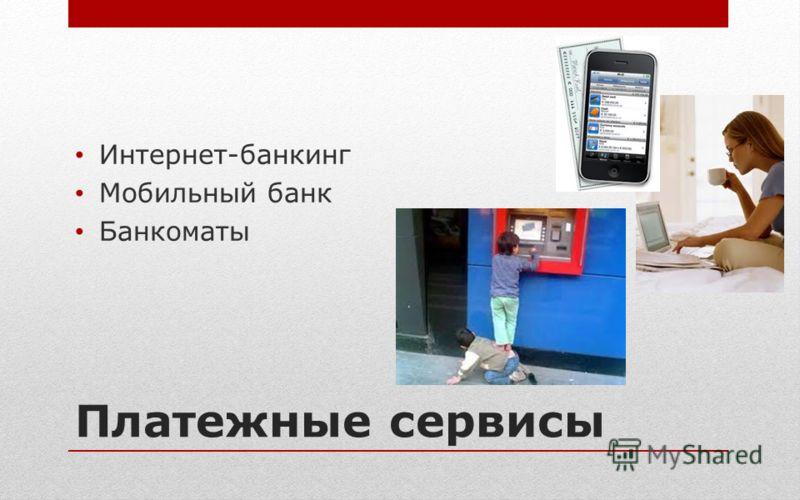 Платежные сервисы Интернет-банкинг Мобильный банк Банкоматы